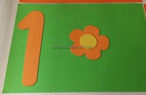numbers theme craft idea for preschool
