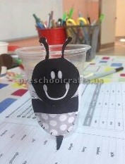 paper cup bee craft ideas preschool