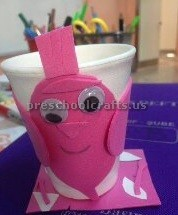 paper cup crafts related to animal for kids