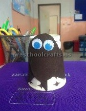 paper cup owl craft ideas