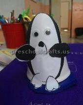 paper cup penguin craft ideas
