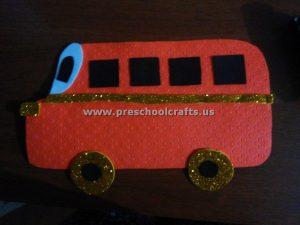 preschool easy bus craft idea