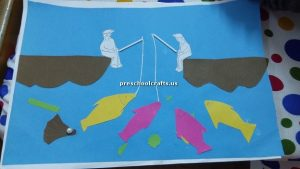 preschoolers craft idea for fish