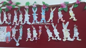 rabbit bulletin board for preschool
