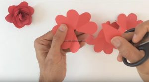 rose craft making for pre-school