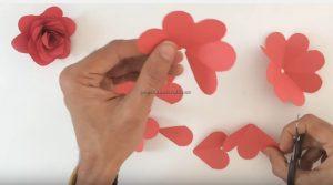 rose craft making for preschooler