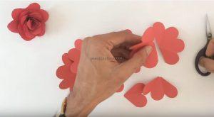 rose craft making for preschoolers
