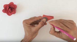 rose craft making for toddler
