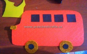 simple bus craft idea for kids
