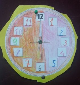 wall clock craft for kindergarten