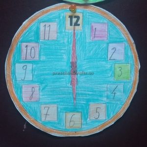 wall clock craft ideas for preschool