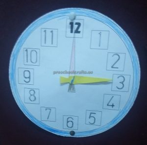 wall clock theme craft for kids