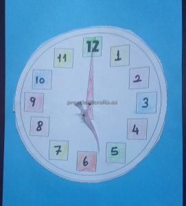 wall clock theme craft for kindergarten