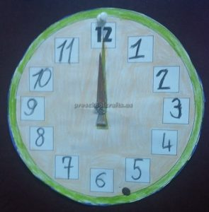 wall clock theme craft ideas for kids