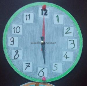wall clock theme craft ideas for preschool