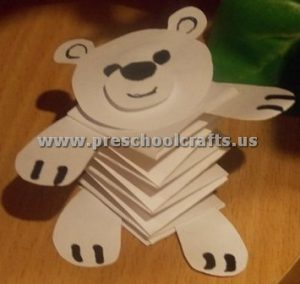 accordion bear crafts for kids