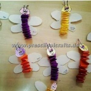 accordion butterfly crafts