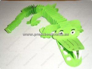accordion crocodile craft ideas