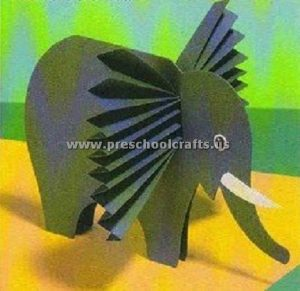 accordion elephant craft ideas for kids