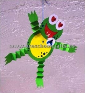 accordion frog craft ideas for kids