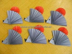 accordion hedhegoh crafts for kids
