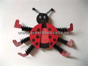 accordion ladybug crafts for kids