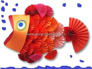 accordion paper fish craft ideas for kids