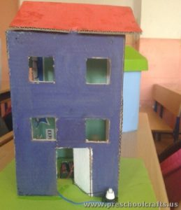 carton box home night lamp projects for kids
