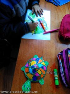 colored paper turtle crafts for kids