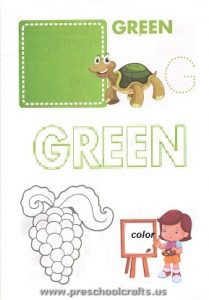 colors workpages for toddler