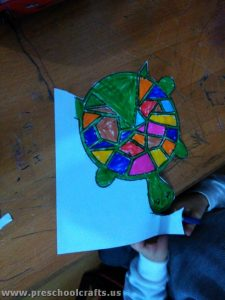 cone paper turtle craft for kids