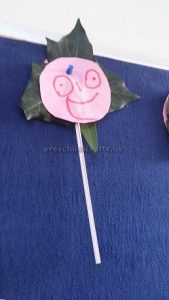 craft related to flower theme for kindergarten