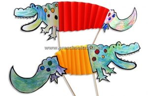 crocodile accordion paper craft ideas for kids