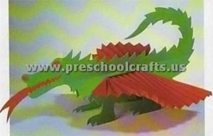 dragon accordion animals crafts for kids