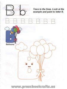free capital letter b worksheet for preschool