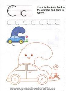 free capital letter c worksheet for preschool