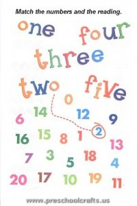 free colored numbers worksheets for preschool