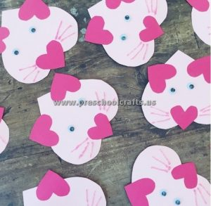 heart rabbit craft ideas for valentines day