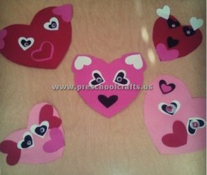 hearts panda crafts for valentines day