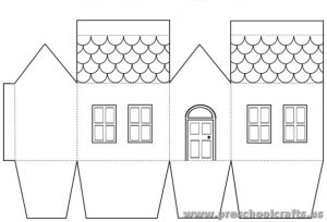 house projects free templates for kids