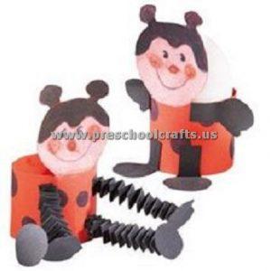 ladybug accordion animals crafts for kids
