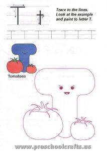 letter t worksheets for kindergartenletter t worksheets for kindergarten