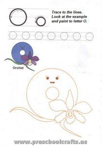 letters o worksheets for kids