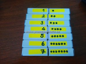 numbers activity idea for kids