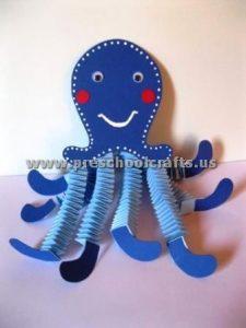 octopus accordion animals crafts