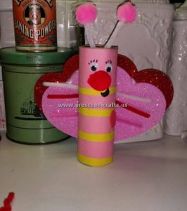 paper roll valentines day crafts