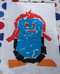 penguin theme craft idea for preschoolers