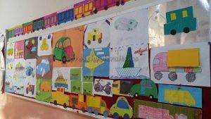 preschool vehicles bulletin board