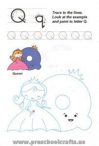 printable letter q worksheets for preschool