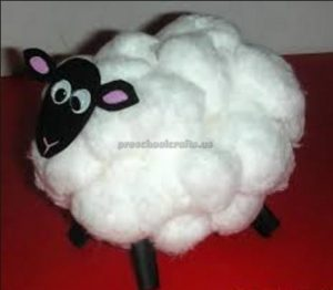 sheep craft for first grade